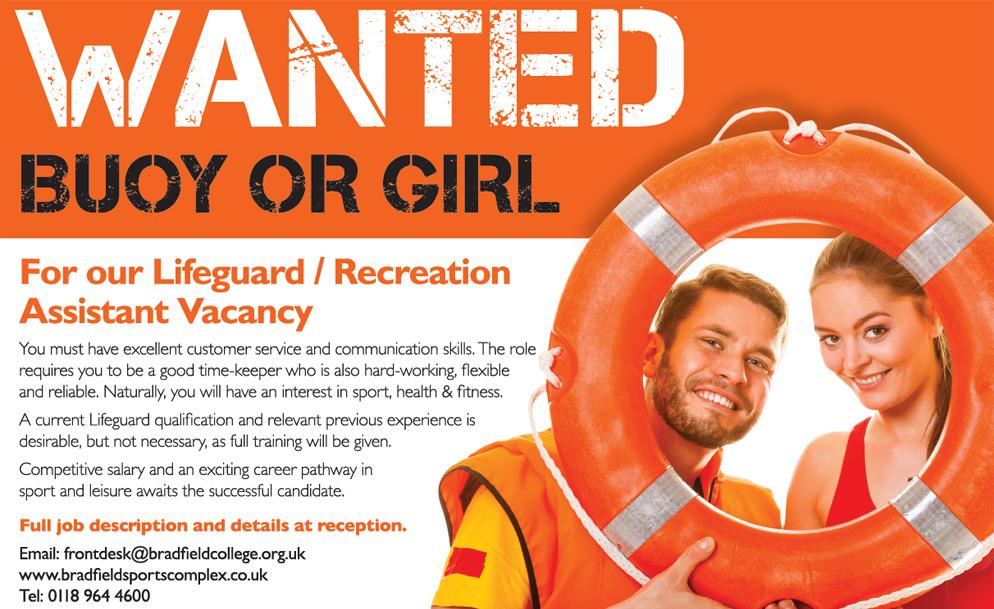 Recreation Assistant / Lifeguard Vacancy