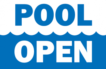 Pool is open!